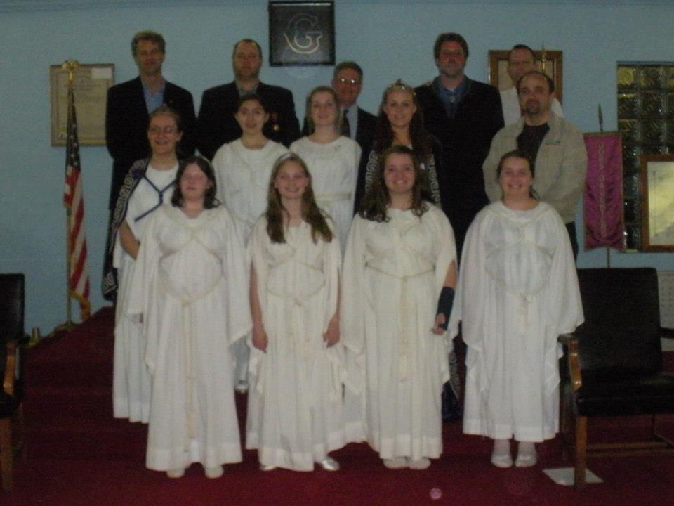 Carmel 421 Master Masons honored by Job's Daughters, Bethel 68.