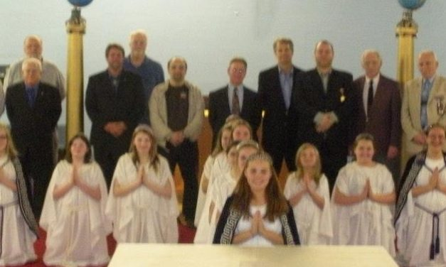 Carmel #421 Masons honored by Jobs Daughters, Bethel 68
