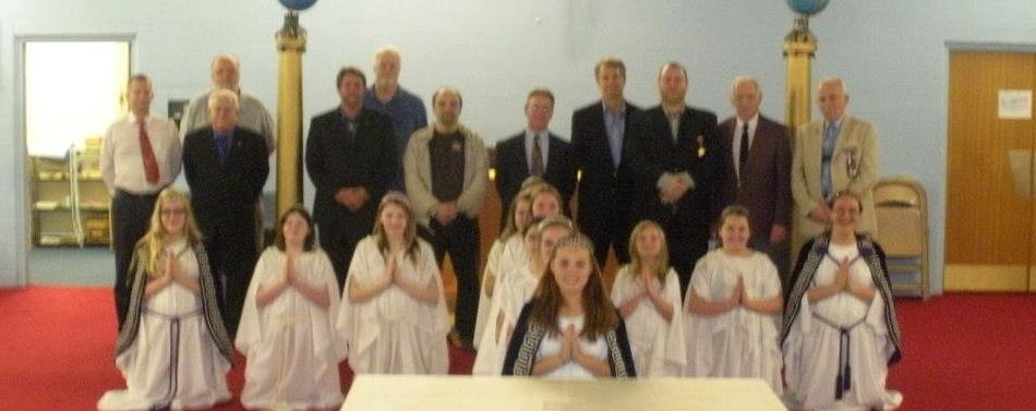Carmel #421 Masons honored by Jobs Daughters, Bethel 68