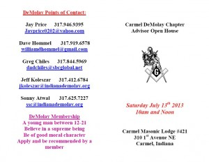 DeMolay Open House July 13th 2013_cover