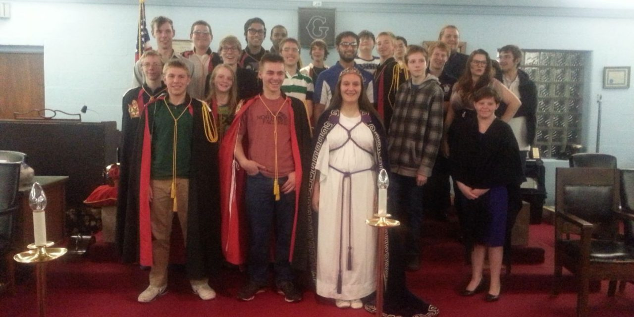 Inaugural Meeting of the Carmel chapter of DeMolay