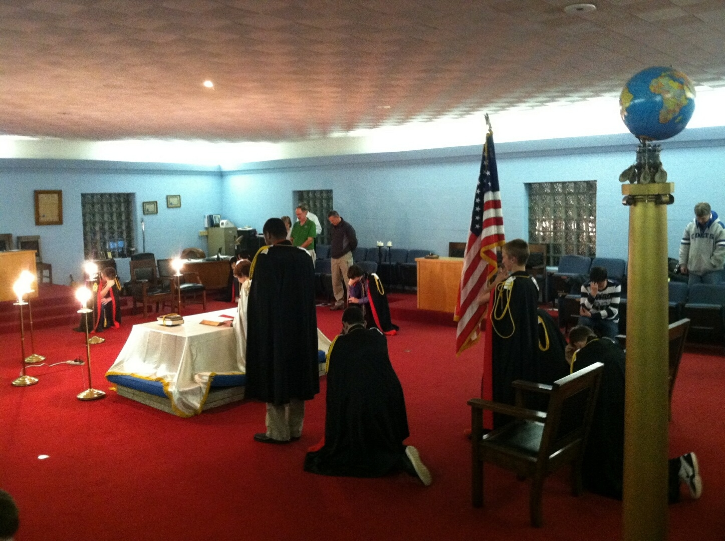 Carmel Indiana Demolay inaugural meeting