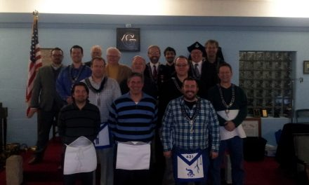Carmel Lodge #421's newest EA David Neil Brumbaugh