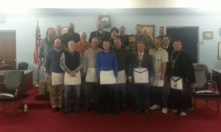 Carmel Lodge #421's newest Fellow Craft