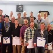 Four New Mason's Join Carmel #421