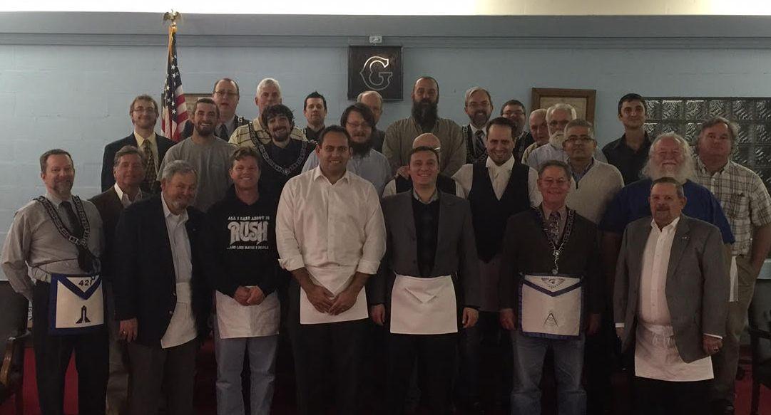 Two New Master Masons at Carmel