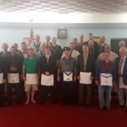 Carmel 421 welcomed two new Master Masons on 8-4-2016