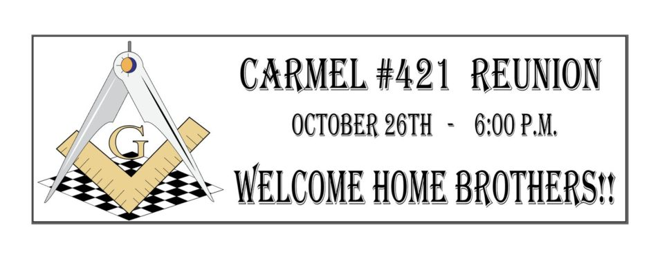 Carmel #421 Reunion Oct 26th, 2017