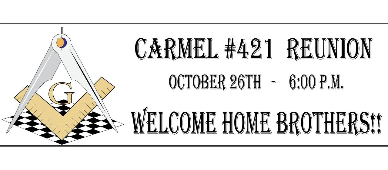 Carmel #421 Reunion Oct 26th, 2017