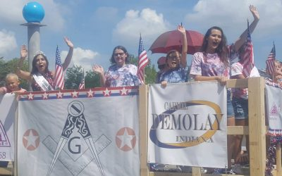 Carmel #421, DeMolay, and Job's Daughters Bethel #68 Parade in CarmelFest