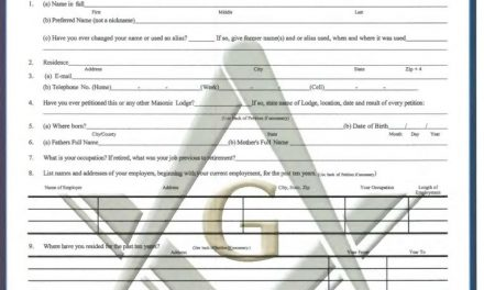 INTERESTED IN MASONRY? PETITION FOR THE DEGREES OF FREEMASONRY
