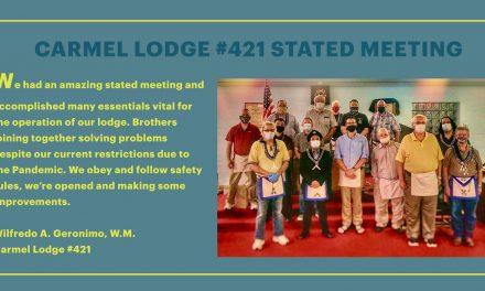 Carmel Lodge #421 Stated Meeting