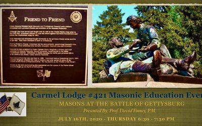 Masonic Education Event: Masons at the Battle of Gettysburg