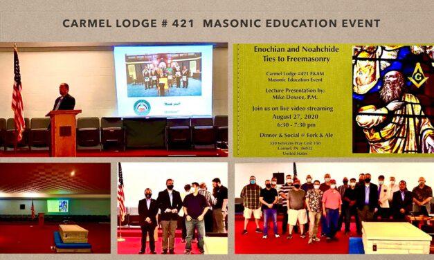 Enochian and Noahchide Ties to Freemasonry – a Carmel 421 Masonic Education Event
