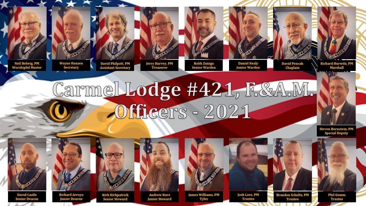 Carmel 421 2021 officer line updated 6-2021