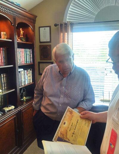 "50-Year Award of Gold"" Presentation - Wilbur ""Butch"" Hancock"