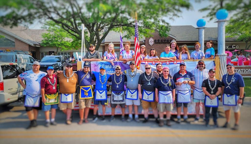 Carmel #421 Supports Youth Group Bethel #68 at CarmelFest Parade July 4th
